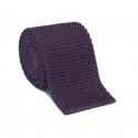 Purple Knitting Tie