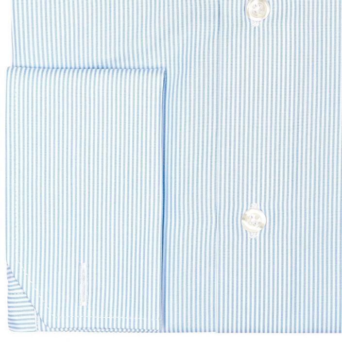 Double Cuff Light Blue Stripe Shirt