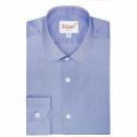 Extra-Slim Dark Blue Shirt With French Collar