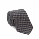 Hound\'s Tooth Grey and Blue Tie