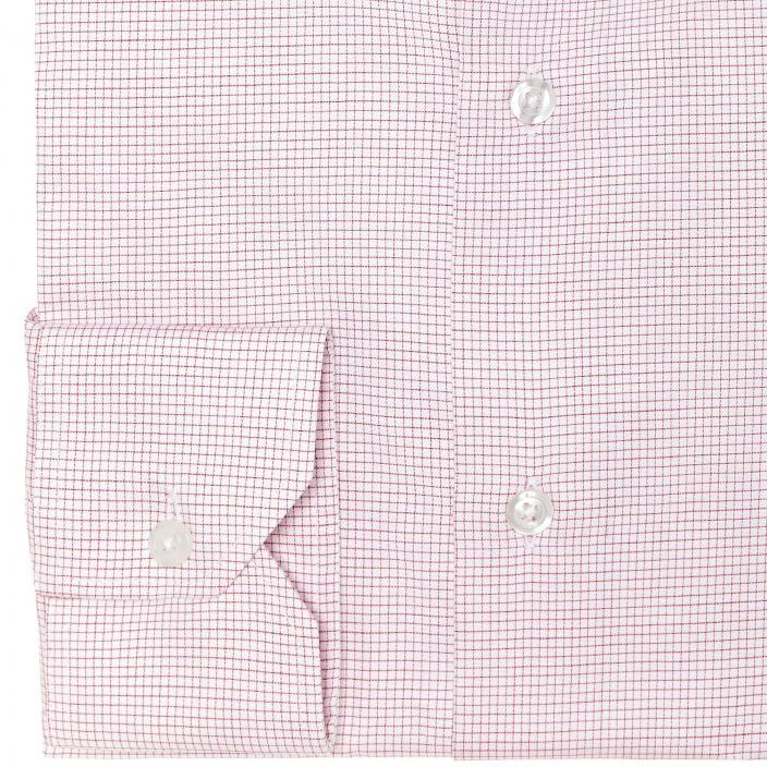 Chemise classique en twill à petits carreaux rouges