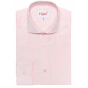 Extra-slim pink check shirt