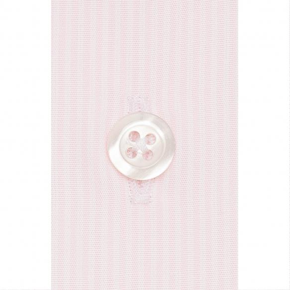Chemise petites rayures roses à col français