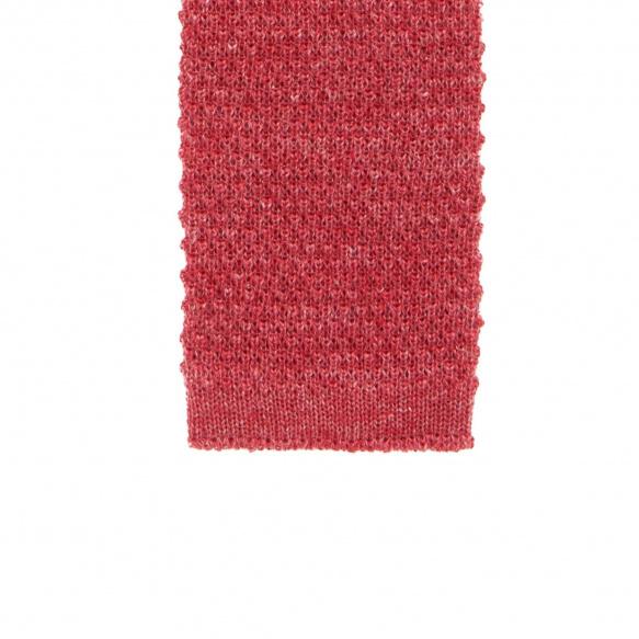 Cravate rouge en maille de lin