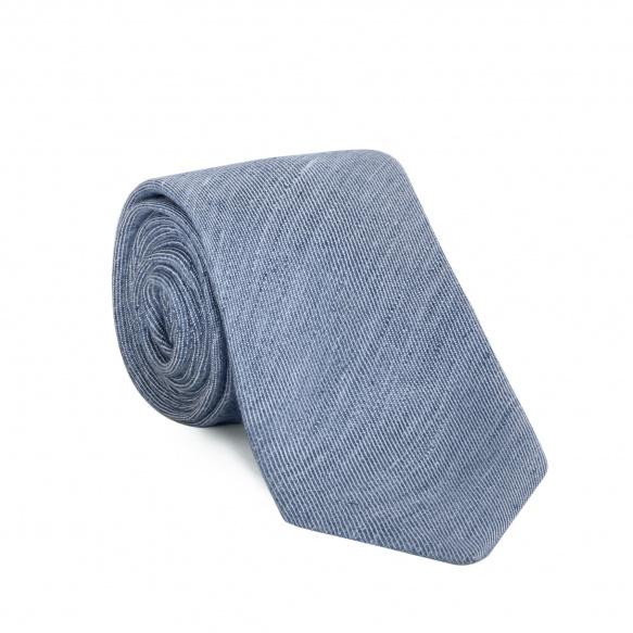Plain light blue tie