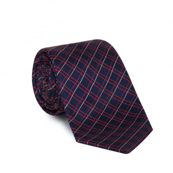 Cravate bleue à carreaux