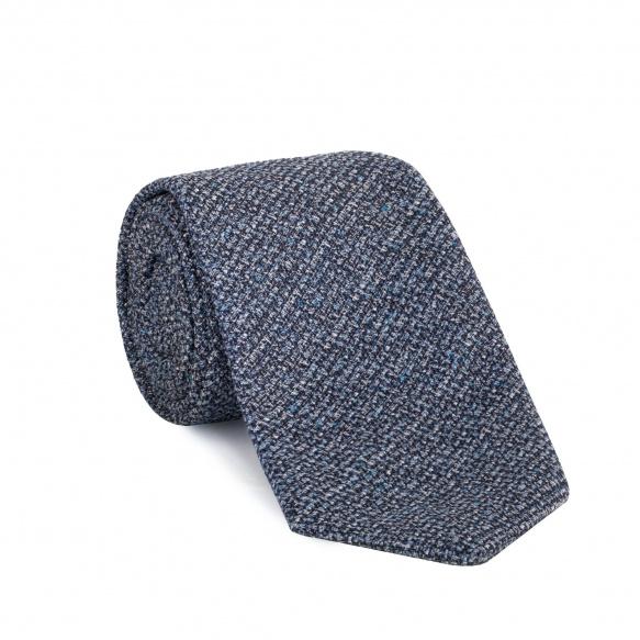 Cravate bleu-gris chiné