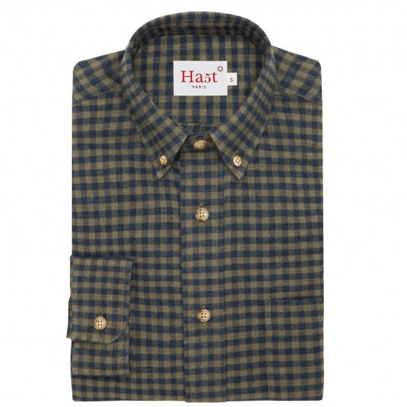 Chemise flanelle à carreaux vert