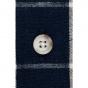 Chemise marine à carreaux blancs japonais