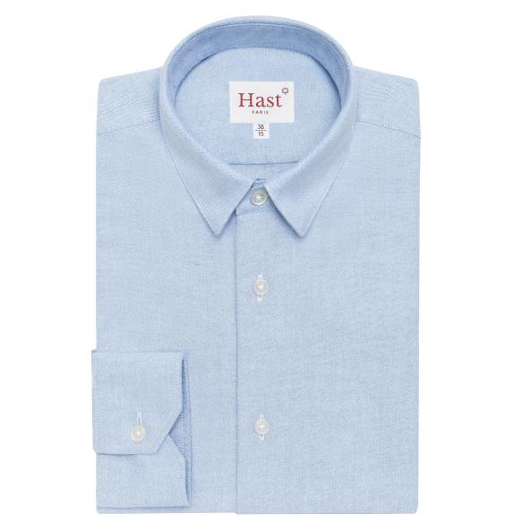 Chemise en flanelle bleu clair