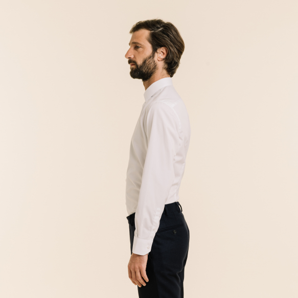 Linen and cotton white shirt