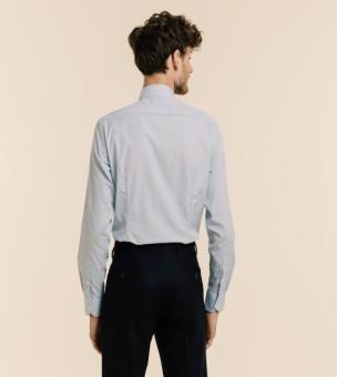Blazer bleu en lin coton