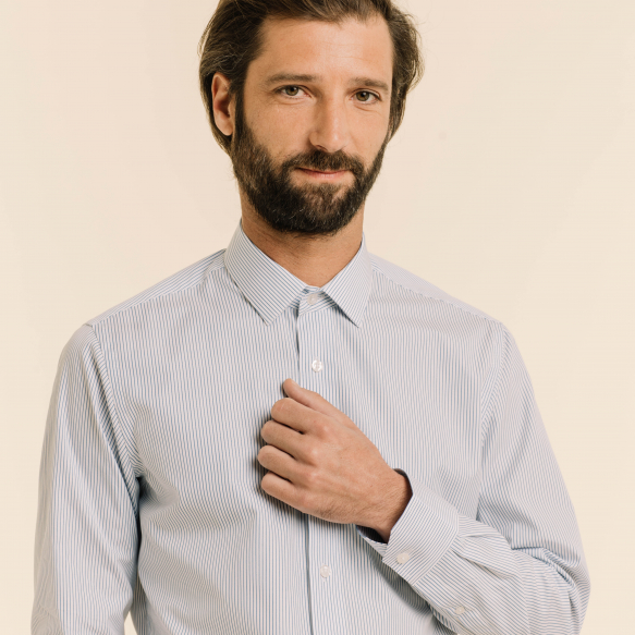 Classic fit thin blue...