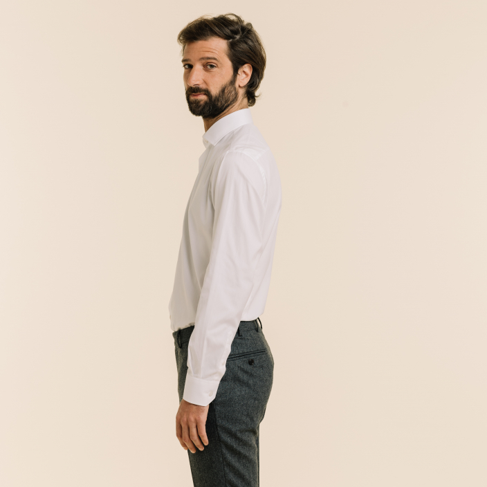 Slim fit white oxford shirt