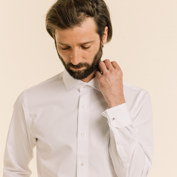 Classic fit white shirt...