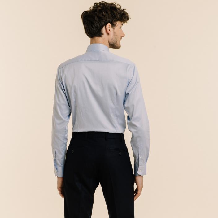 Slim fit blue twill shirt