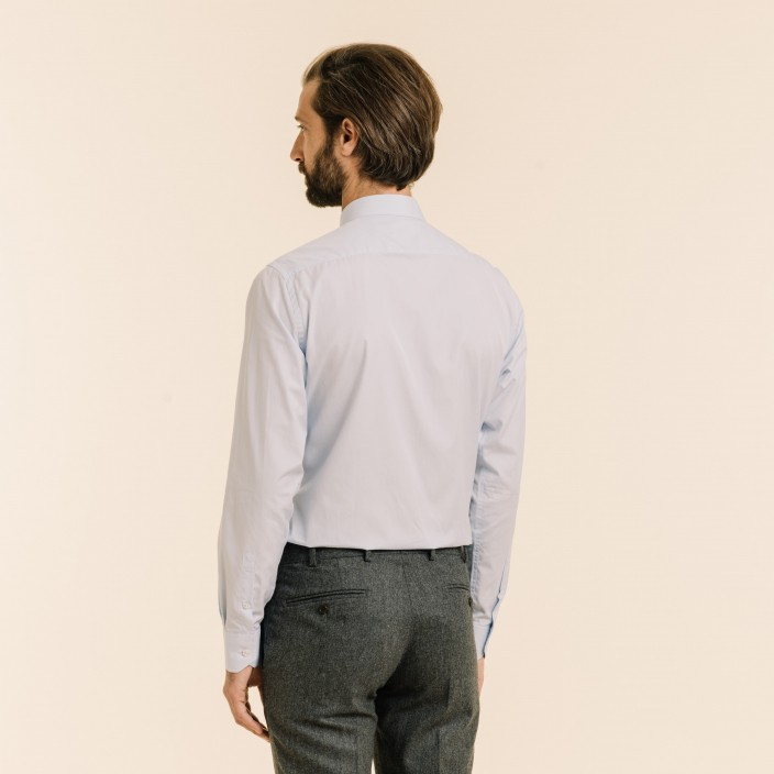 Classic fit light blue fil-à-fil shirt