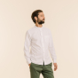 Relaxed fit white oxford shirt