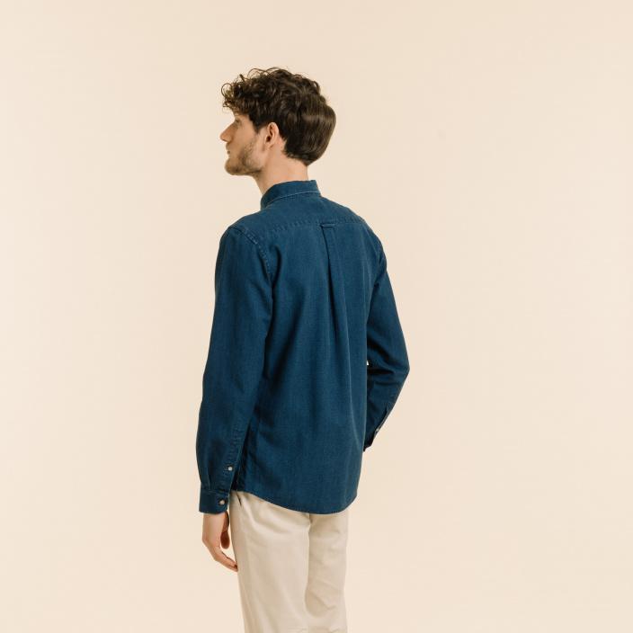 Dobby blue shirt