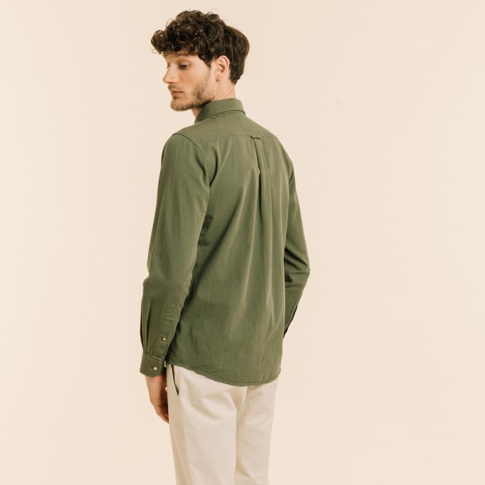 Green safari shirt