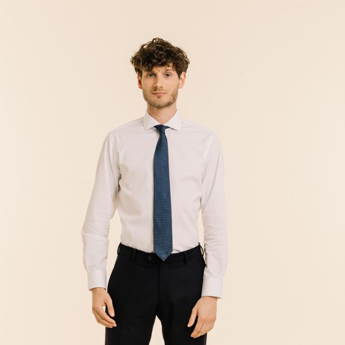 Pied de Puce Blue Tie