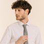 Cravate pied de poule gris