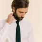 Cravate verte en maille de laine