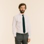 Wool green knitted tie