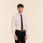 Cravate étroite grenadine de soie rouge à pois