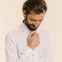 Classic fit oxford white shirt with french cuffs