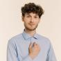 Slim fit blueberry fil-à-fil shirt