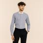 Classic fit blue stripes poplin shirt