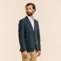 Blue linen and cotton jacket