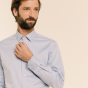 Classic fit grey oxford shirt