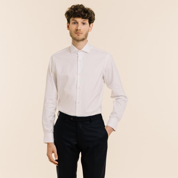 Slim fit premium white...