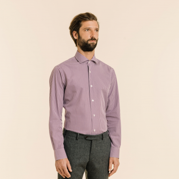 Slim fit purple gingham...