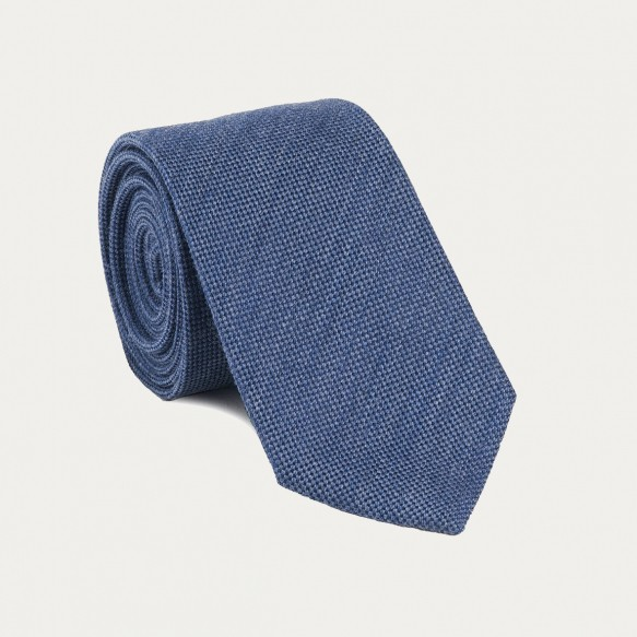 Plain Denim Blue Tie