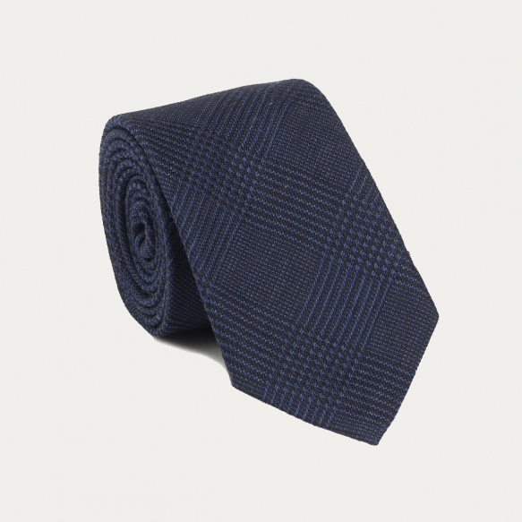 Blue Prince of Wales Check Tie