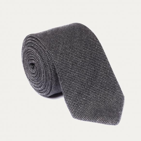 Cravate grise en laine