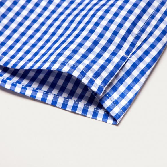 Blue Semi Plain Stripe...