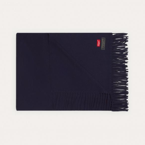 Blue virgin wool scarf