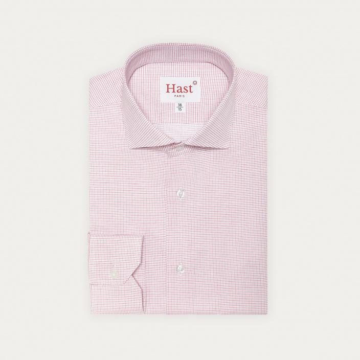 Red Small Check Shirt