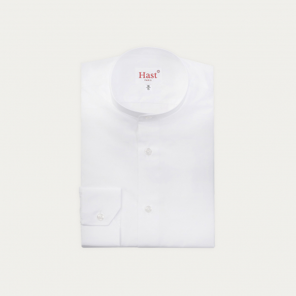White Shirt with Stand Up...