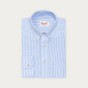 Relaxed fit light blue stripes oxford shirt
