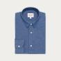 Classic fit dark blue chambray shirt