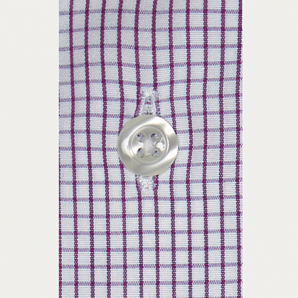 Extra-Slim Purple Check Shirt