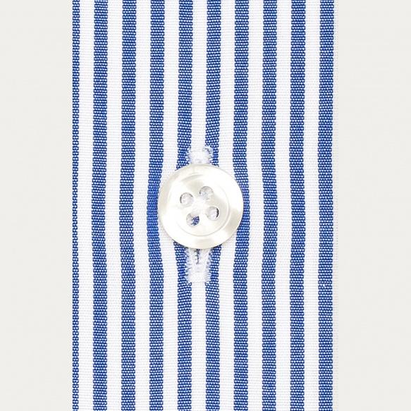 Chemise cintrée en popeline à rayures bleu foncé