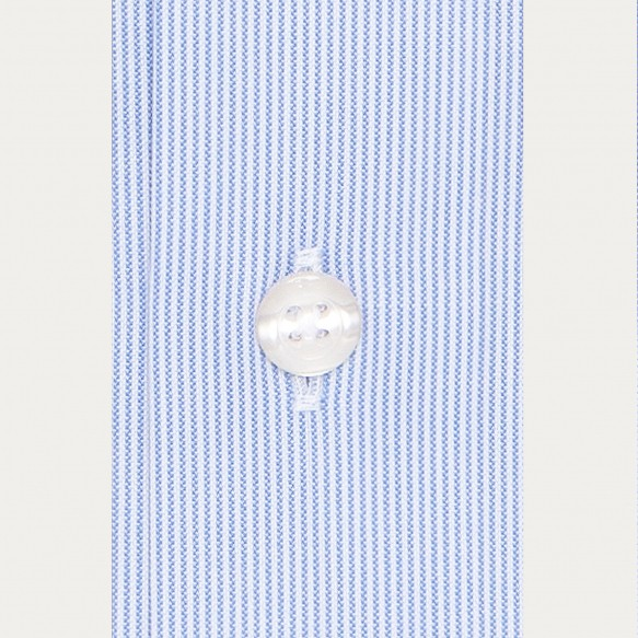 Slim fit thin blue stripes...