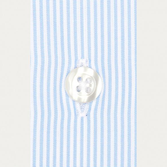 Chemise classique en popeline à rayures bleues