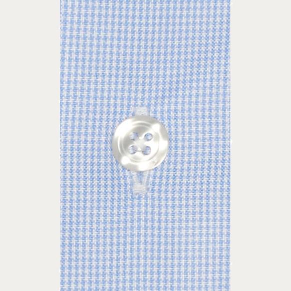 Chemise classique en oxford pied de puce bleu clair